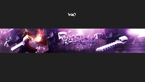 Minecraft youtube banner (PF included)  ( CLOSED )