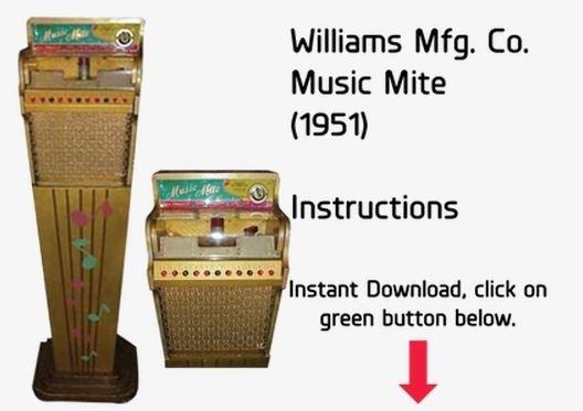 Williams Mfg. Co. Music Mite (1951) Instructions