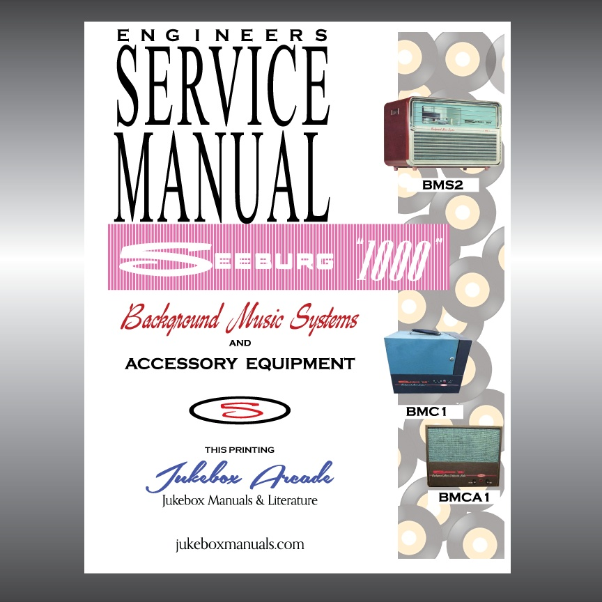 Seeburg 1000 Background Music Systems and Accessories Rare Engineers Manual