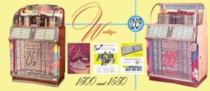 Wurlitzer 1500, 1500A 1550, 1550A (1952-53) Service and Parts Manual COLOR Diagrams!