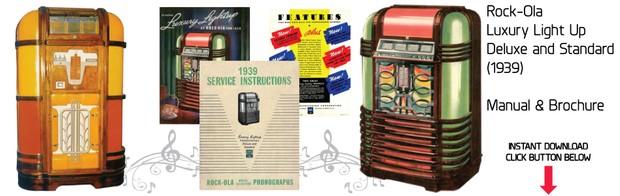 Rock-Ola  Deluxe Luxury Lightup  (1939)  Manual & Brochure