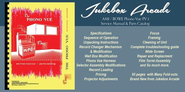 AMI / Rowe Phono Vue PV-1  (1968-72)  Service & Parts Manual