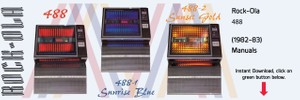 """Rock-Ola 488 """"Sunrise"""" Comes in Blue, Gold & Red  (1982-83)    Manuals"""