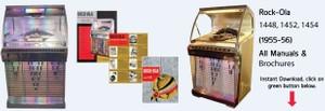 Rock-Ola    1448, 1452, 1454     (1955-56)   All Manuals &  Brochures