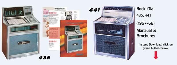 Rock-Ola 435 Princess Deluxe, Includes 441 Deluxe Manual
