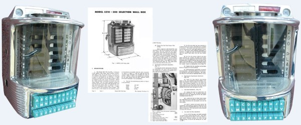 Wurlitzer Wall Box Model 5210  (1956) Service Manual
