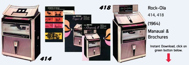 "Rock-Ola 414 ""Capri II"" 418 ""Rhapsody II"" (1964)"