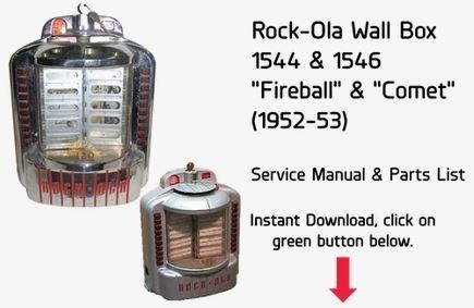 Rock-Ola Wall Box 1544 & 1546