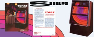 Seeburg  100-77D Topaz  (1977)   2 Page Brochure