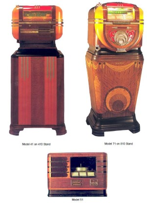 Wurlitzer  Counter top Models 41-51-61-71-81 (1939-42)