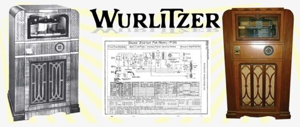 Wurlitzer Model P-30  (1935) Sound System Schematics