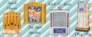 Seeburg  Play-Boy, Speak Organ Top Spot,  Wall-O-Matic  (1939-40)   4 Page Brochure