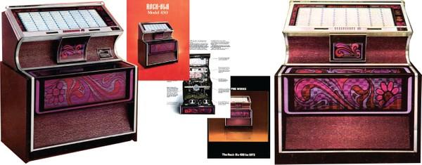 Rock-Ola 450 - 451 (1973) Manual & Brochure