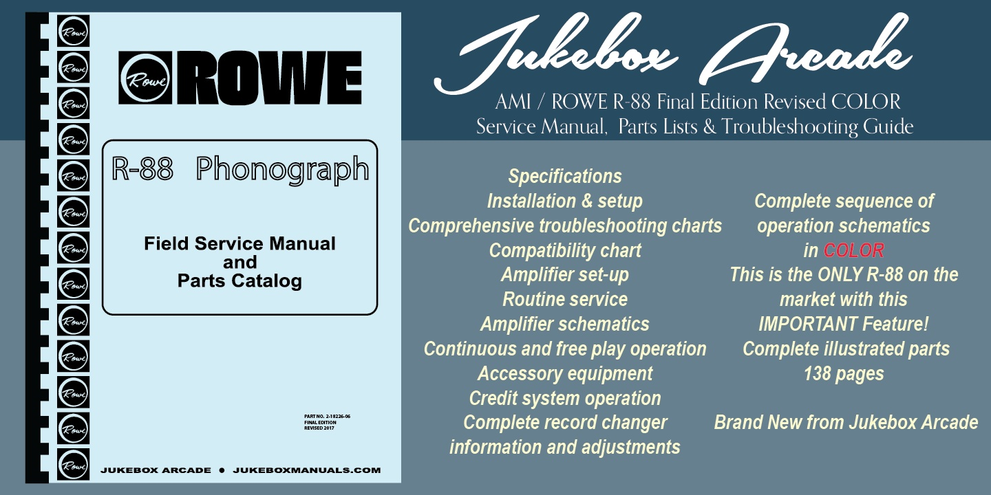 Rowe service manual 1 of 1free shipping array ami rowe r 88 service manual parts lists u0026 troubles rh sellfy com fandeluxe Images