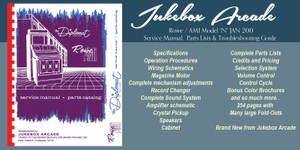Rowe / AMI Model JAN, JAO Service and Parts Manual with Troubleshooting Guide and brochure