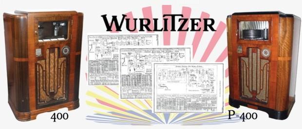 Wurlitzer Model 400, P-400  (1935) Sound System Schematics