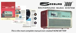 Seeburg 1000, Background Music System, BMS1 & BMS1XT, 1960, Engineer's Manual & Brochure