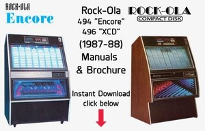 "Rock-Ola 494 ""Encore"" 496 ""XCD"" (1987-88)"