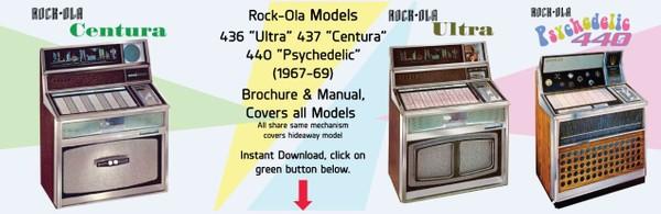 "Rock-Ola 436 ""Ultra"" 437 ""Centura"" 440 ""Psychedelic"" (1967-69)"