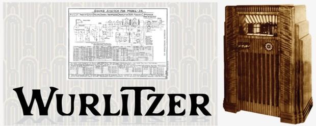 Wurlitzer Model 35  (1936) Sound System Schematics