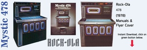 "Rock-Ola 478 ""Mystic""  (1978)    Service Manual, Parts Catalog and Troubleshooting"