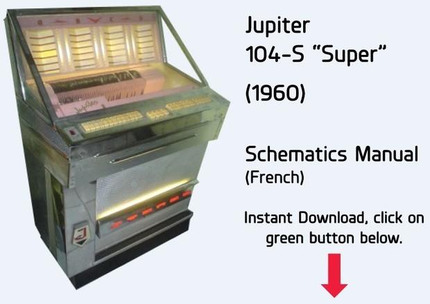 """Jupiter   104-S """"Super""""   (1960)        Schematics Manual  (French)"""