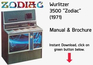 "Wurlitzer 3500 ""Zodiac"" (1971) Manual & Brochure"