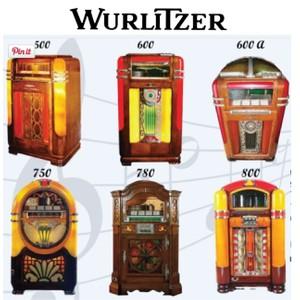 Wurlitzer 500, 500-A, 600, 600-A, 700, 750, 750-E, 780, 780-E, 800, (1938-41)