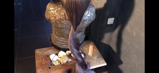 Hair play, brushing hair, bun, bun drop. 20 minutes