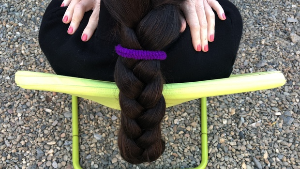 Braids style from Mila outside 10 minutes
