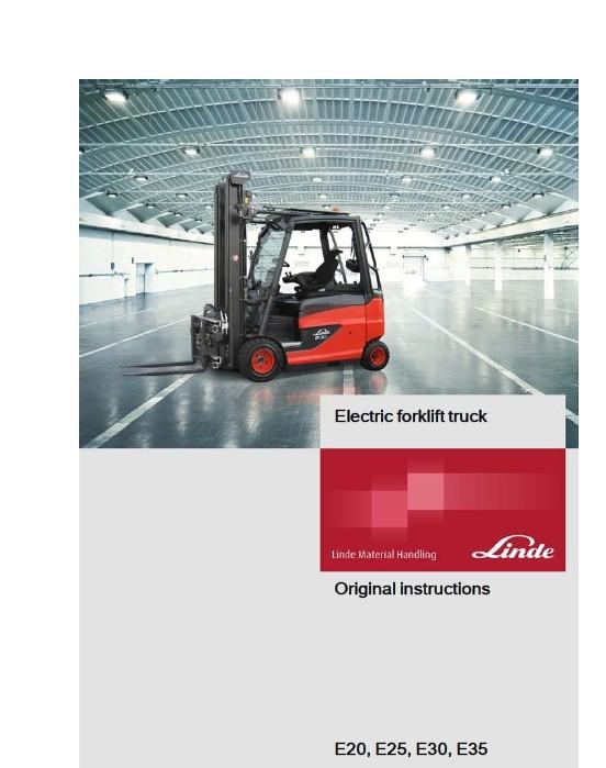 Linde Electric Lift Truck 387 Series E20, E25, E30, E35 Workshop Manual
