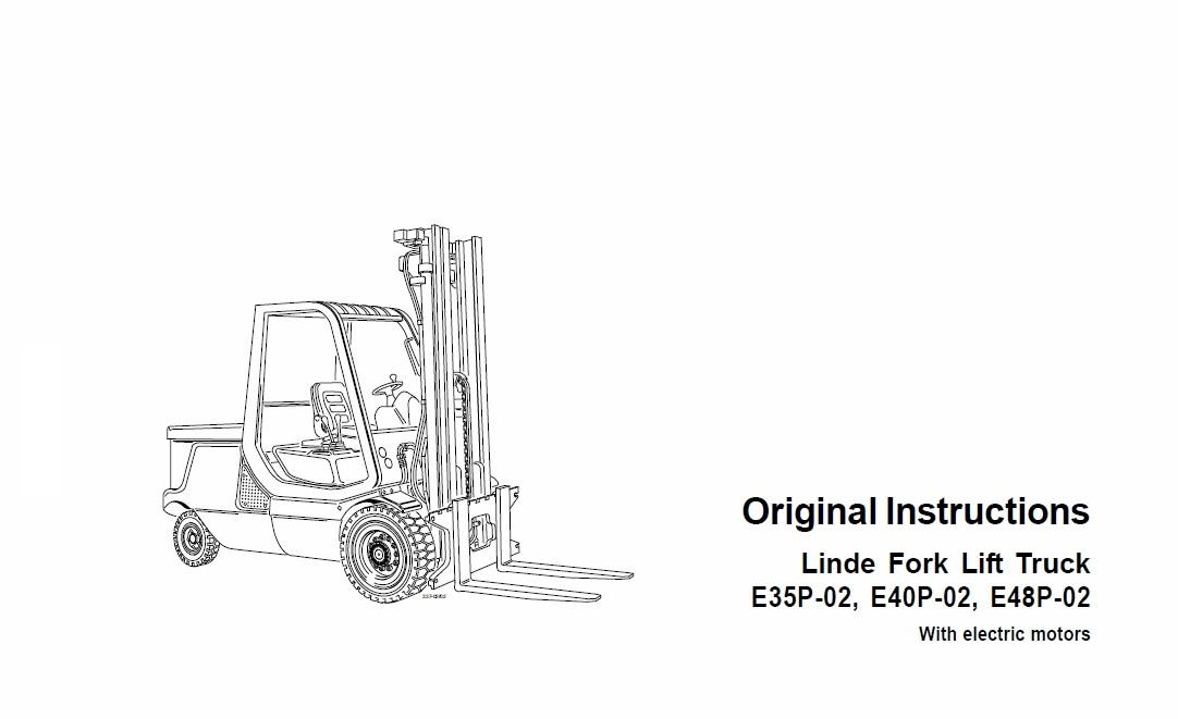 Linde Electric Counterbalance Truck Type 337 E35 E40 E