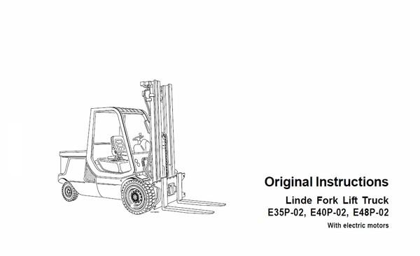 Linde Electric Counterbalance Truck Type 337 E35 E40 E48