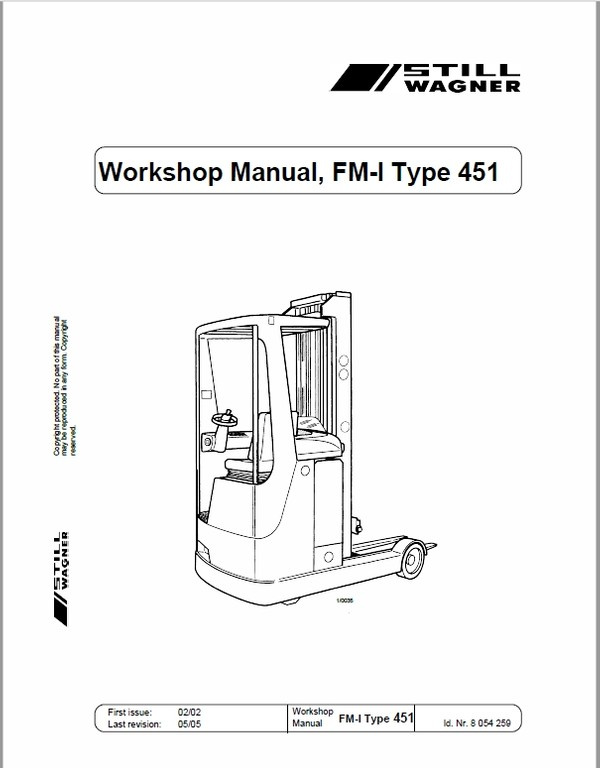 Still FM-I Type 451 Reach Truck Workshop Repair Manual