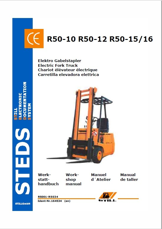 Still Electric Fork Truck R50: R50-10, R50-12, R50-15 Repair Circuit Workshop Manual