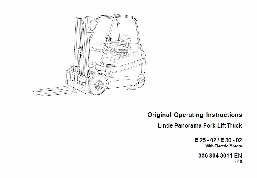 linde owners manual