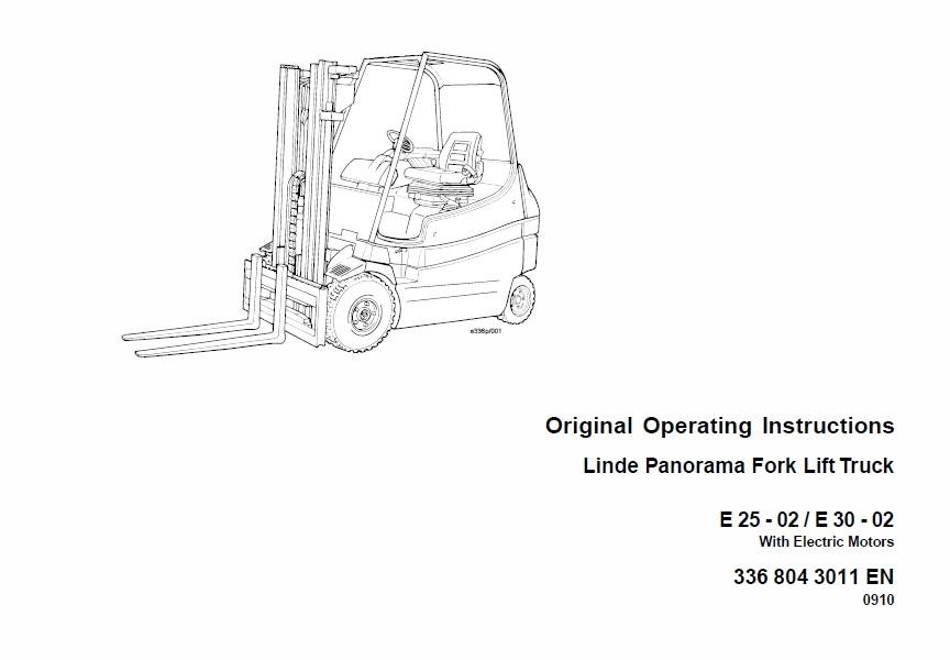 Linde Electric Forklift Truck 336 Series E20, E25, E30