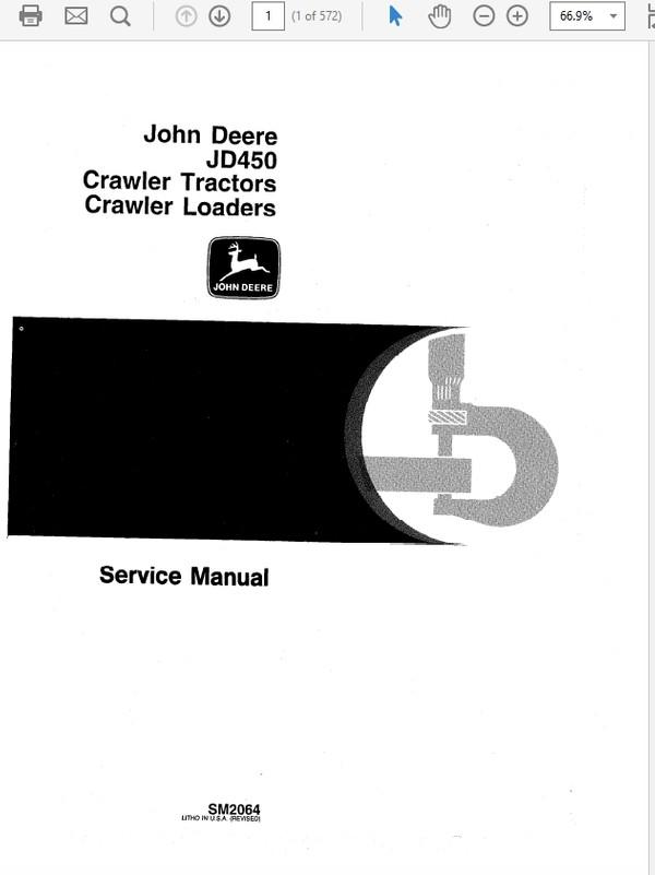 John Deere 450 Crawler Tractor And Loaders Manual Technical Manual SM-2064