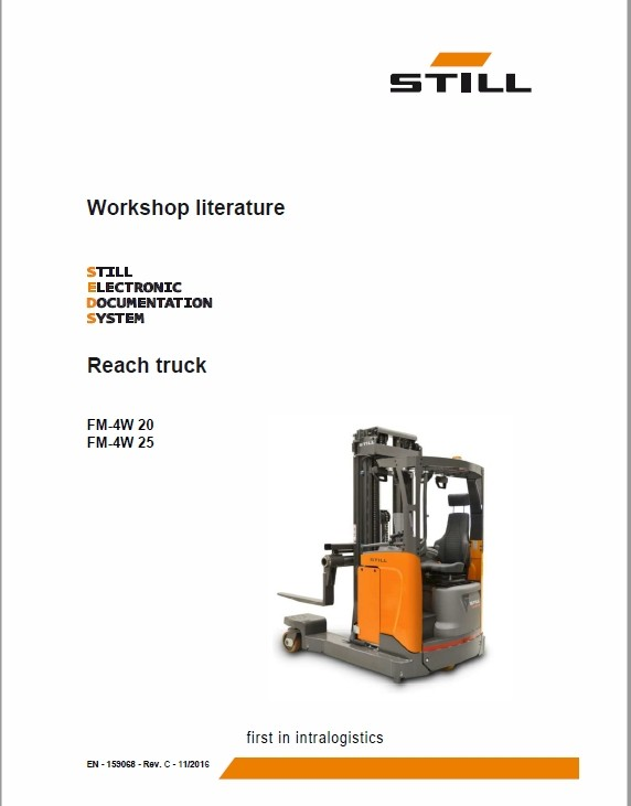Still FM-4W 20 and FM-4W 25 Reach Truck Workshop Repair Manual