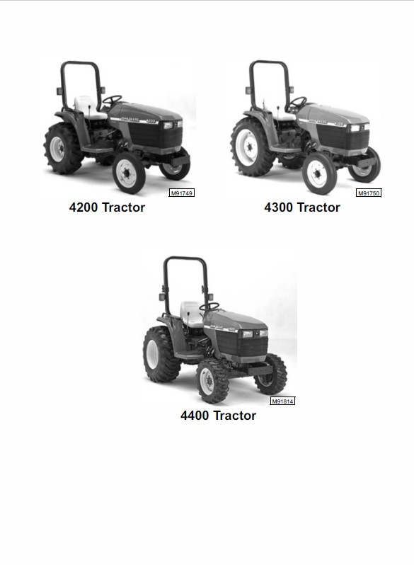 John Deere 4200, 4300 and 4400 Compact Utility Tractors Technical Manual TM-1677