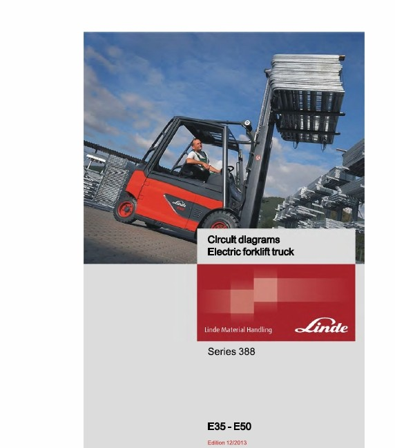 Linde Electric Forklift Truck 388 Series E35 E40 E45 E50 Workshop Service Manual