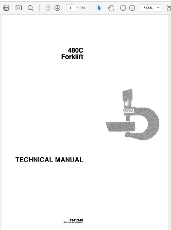 John Deere 480C Forklift Technical Manual TM-1249