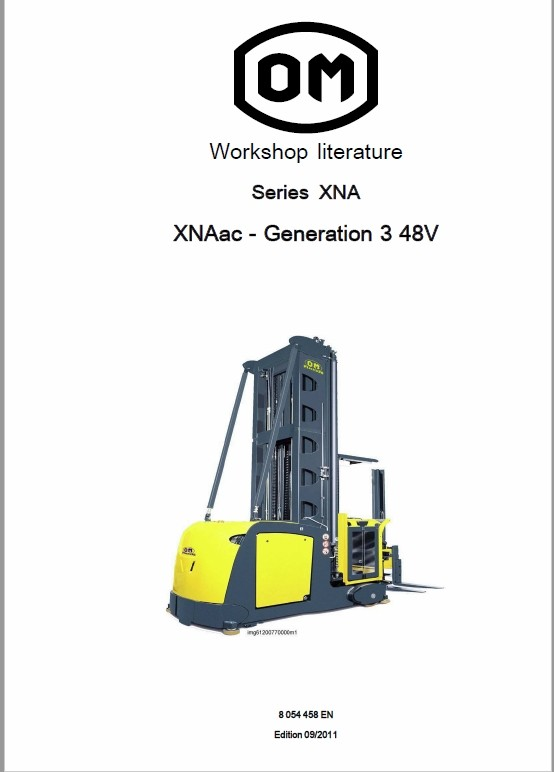 OM Pimespo XNA ac – Generation 3 48v Side Loader Workshop Repair Manual
