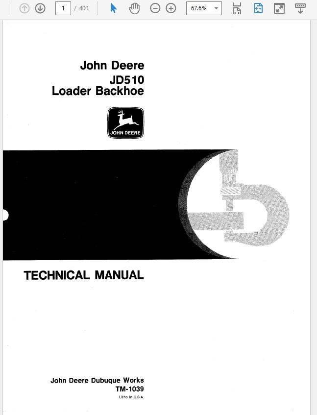 John Deere 510 Loader Backhoe Technical Manual TM-1039 on john deere 310e, john deere 410, john deere 510c, john deere 410d, john deere 850, john deere 310d, john deere 310g, john deere 544e, john deere wiring diagrams, john deere 310se, john deere 515, john deere 310c, john deere 510b, john deere 210c, john deere 485e, john deere 710d, john deere backhoe, john deere 2140 specs, john deere 486e,