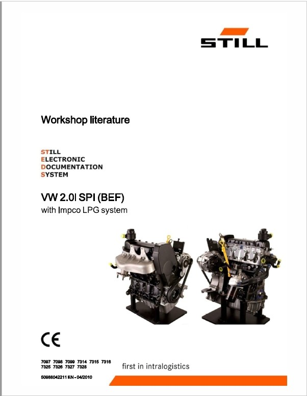 Still Engine VW 2.0I SPI (BEF) with Impco LPG System R