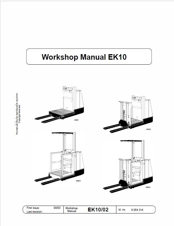 Still EK10, EK11, EK12 Order Picker Workshop Repair Ma