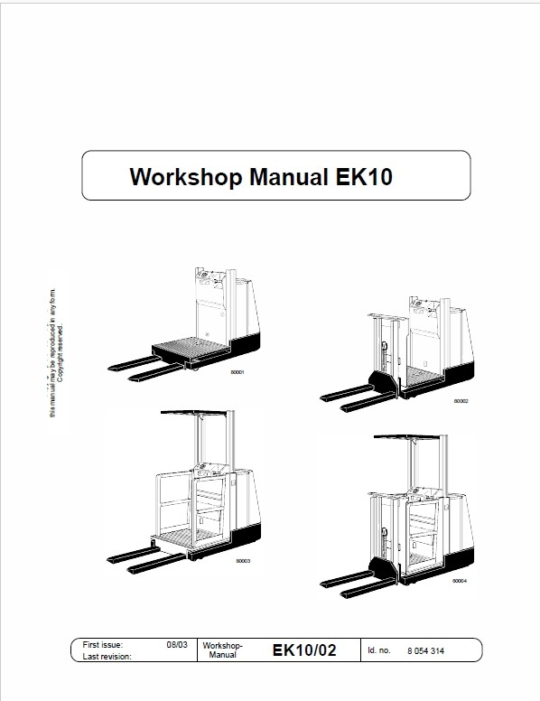Still EK10, EK11, EK12 Order Picker Workshop Repair Manual