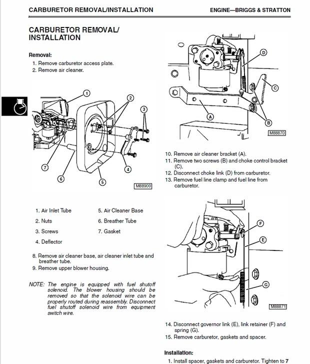 John Deere LT133, LT155 & LT166 Lawn Tractor Technical Manual TM-1695