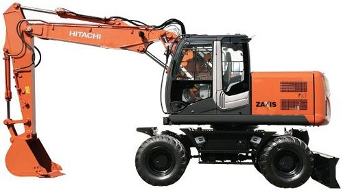 Hitachi Wheeled Excavator Technical Workshop Manual ZAXIS 210W-3 & 220W-3