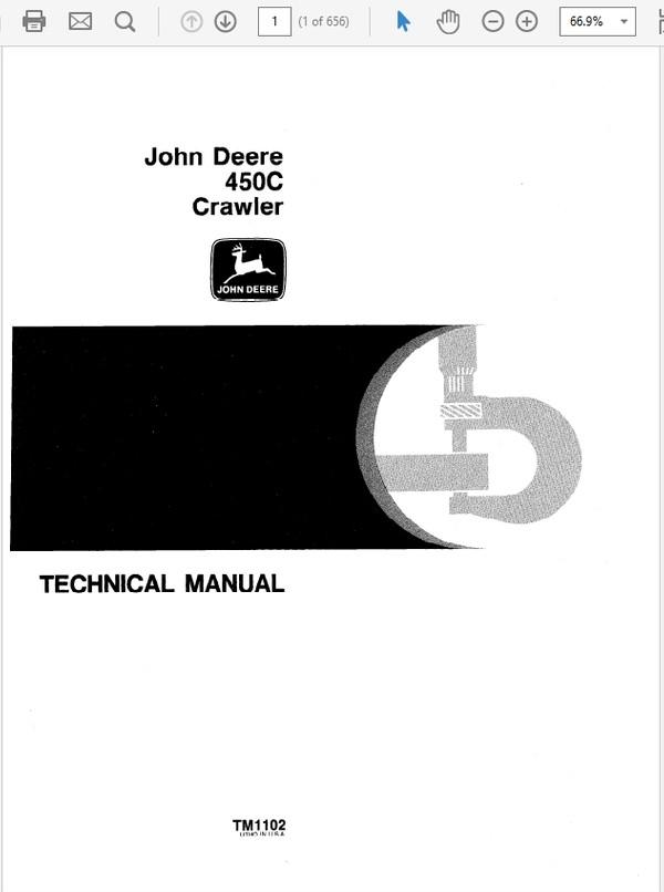 John Deere 450C Crawler Repair Technical Manual TM-1102